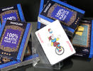 Blue PVC Plastic Playing Cards Gambling Props For Magic Show