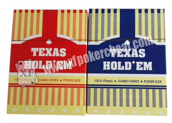 Texas Holdem Playing Card With Poker Size And Jumbo Index Made By Plastic