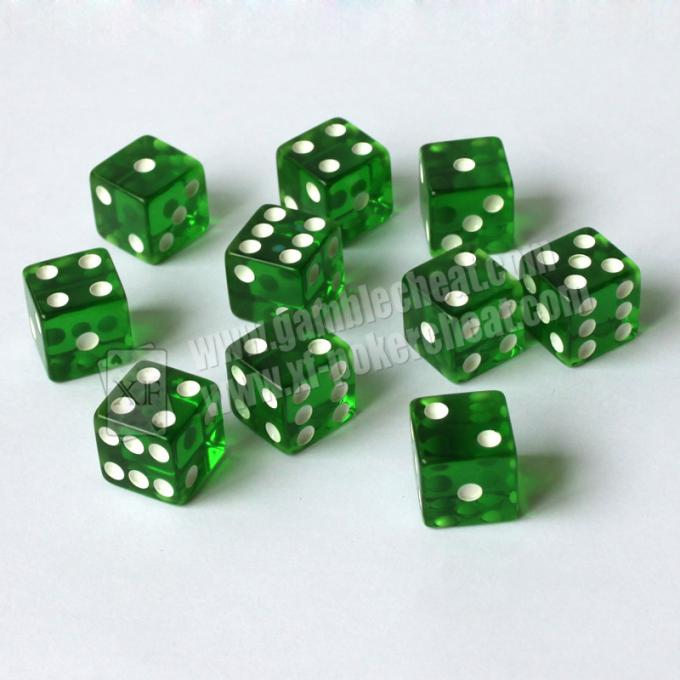 Colorful Perspective Gamble Magic Trick Dice Remote Control Dice